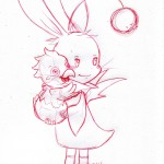 Mog et chocobo de Pâques